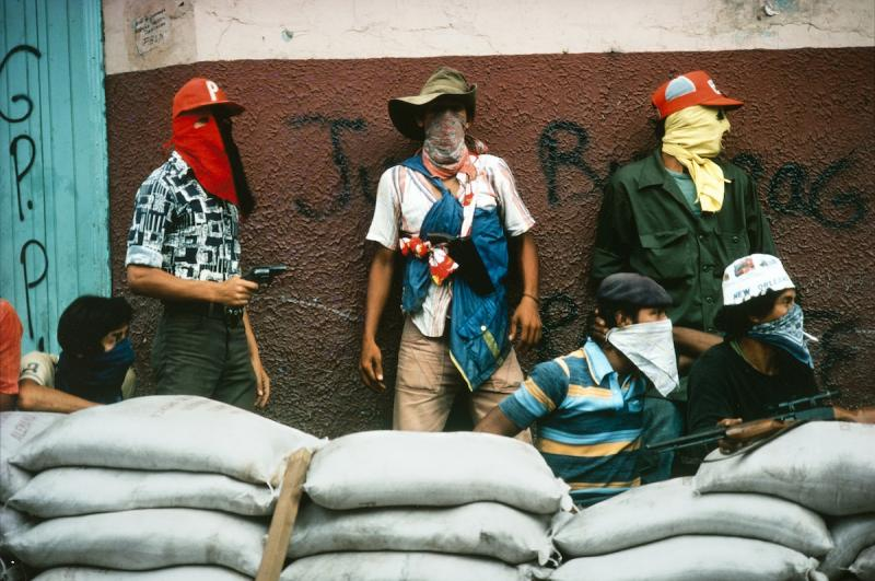 """Nicaragua. Matagalpa. Muchachos await the counterattack by the National Guard."""