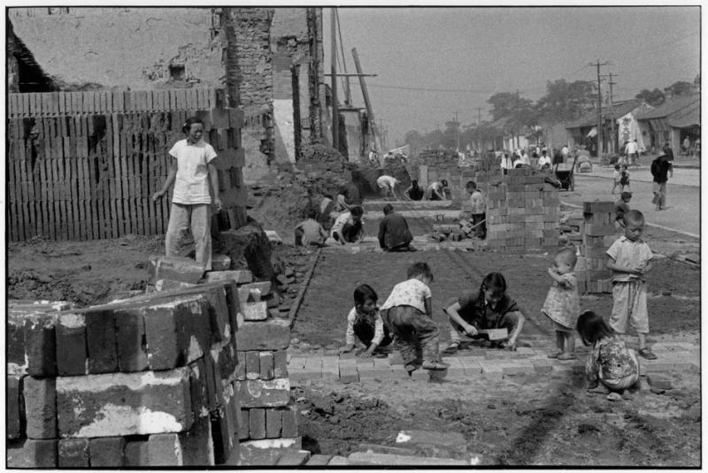 """The front of Cartier-Bresson's 1958 photo, documenting China's Great Leap Forward. """"A photograph is just not the image it shows … but it's also a physical artifact that has a life of its own."""""""