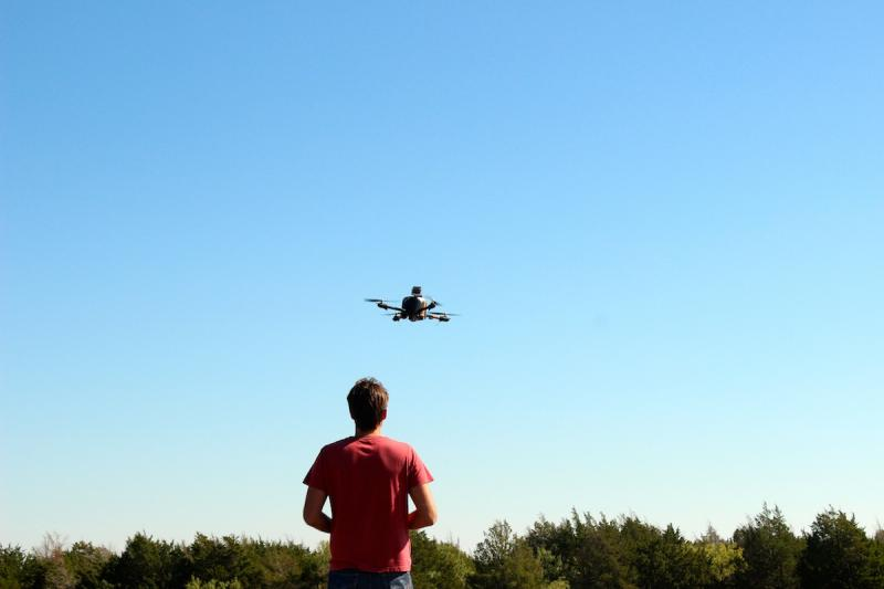 Mark Maughmer oversees the lift-off of the engineered drone.