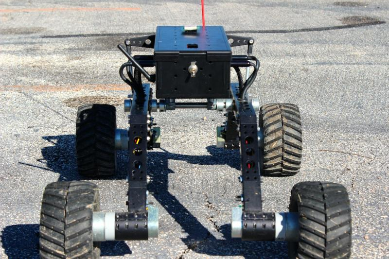 This rover was used in the test flight was to simulate a moving sensor, showing the drone could operate without human guidance. No rover would actually be used for measuring the Arctic and Polar regions.