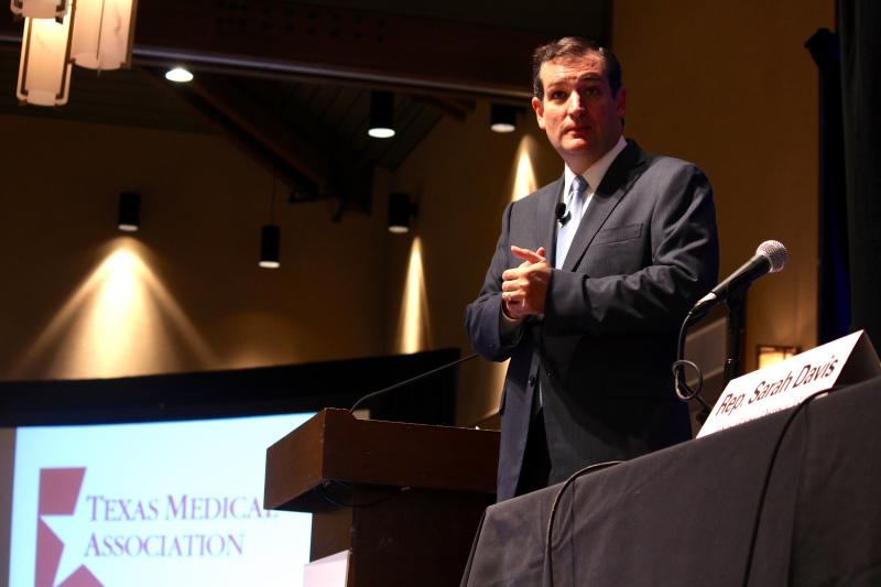 Sen. Ted Cruz spoke at the fall conference of the Texas Medical Association in Austin on Oct. 19, 2013.