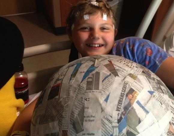 "Laura's son Gabe at Dell Children's Hospital earlier this week. ""The nurses here ... have been amazing,"" Laura says."