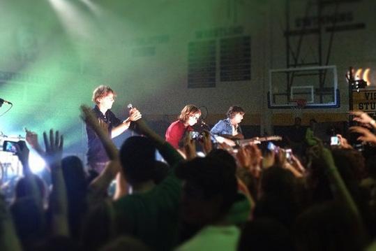 Phoenix performing in the Anderson High School gym last night.