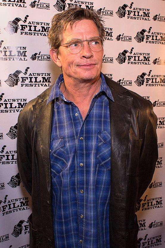 "Actor Thomas Haden Church on the red carpet before the ""2 FACE"" reading."