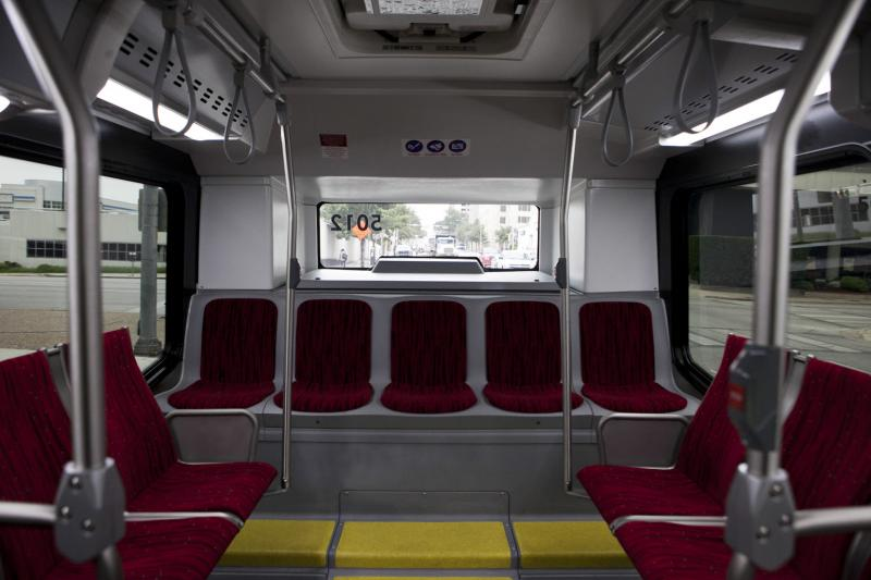 There's 77 stops along the two MetroRapid routes, each spaced close to a mile apart.