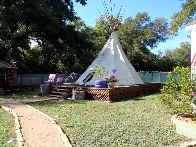 The bed and breakfast will have similar acommodations to that of the village, tepees included.