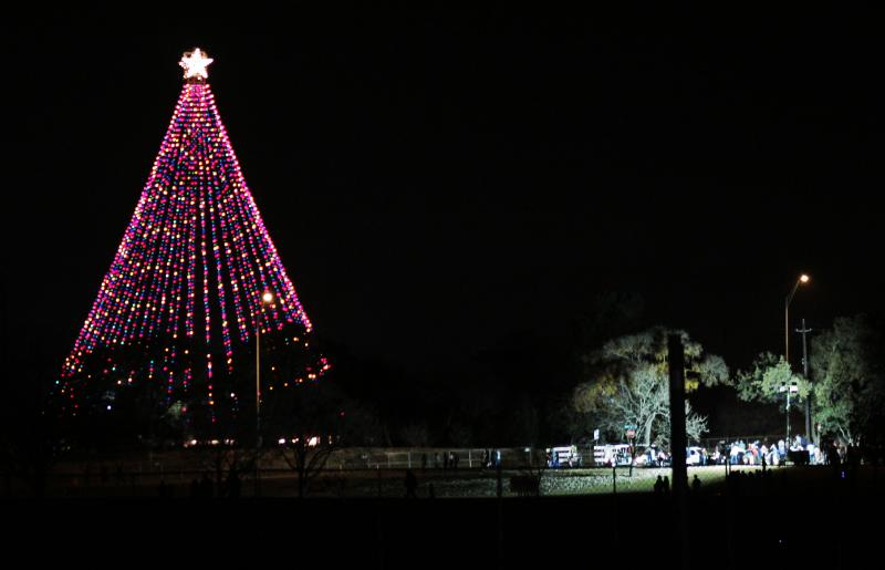 The Zilker Holiday Tree will be lit each evening in December.