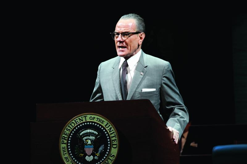 "Bryan Cranston as LBJ in Robert Schenkkan's play ""All the Way."""