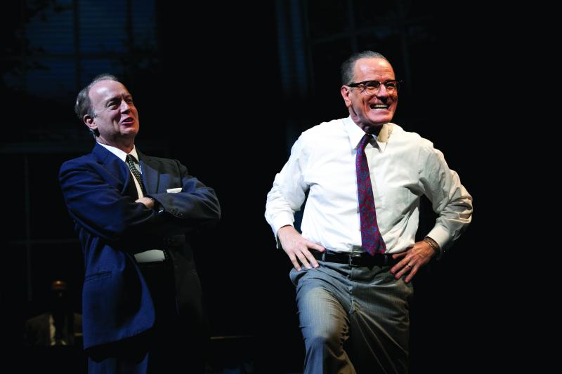 "Reed Birney and Cranston in ""All the Way."""