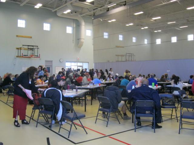 Residents participate in a public input meeting for Colony Park planning last month.