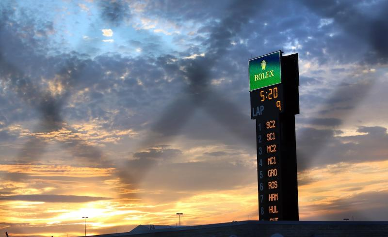 Sunset at the Circuit of the Americas on Thursday. Officials at Austin-Bergstrom International Airport say today's F1 exodus could mean the airport's busiest departure day ever.