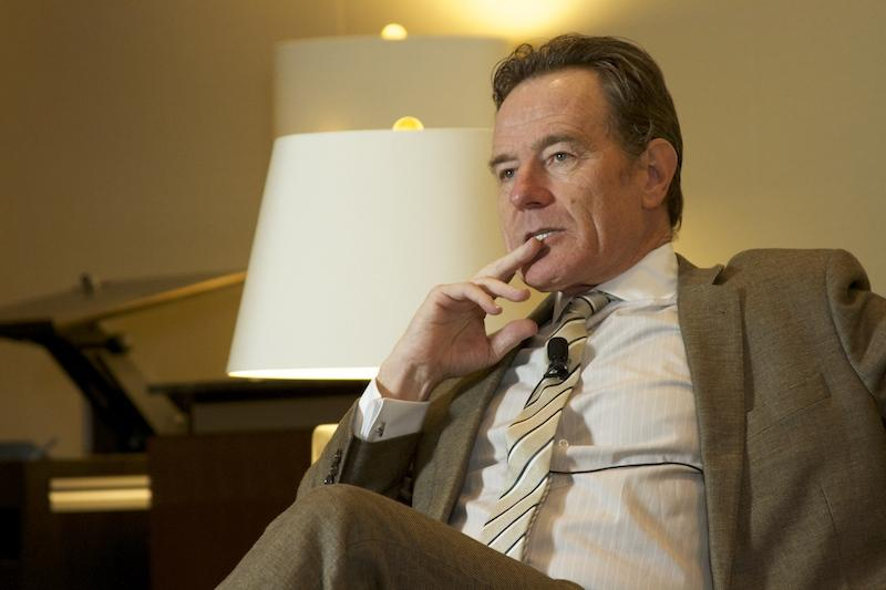 "Bryan Cranston at an event Thursday at the LBJ Presidential Library and Museum. Cranston plays LBJ in ""All the Way"" – a play on its way to Broadway."