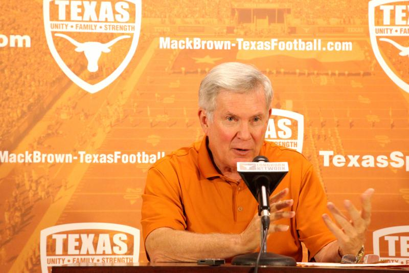 Mack Brown will look to improve the Longhorns fortunes this Thanksgiving after losing last year to TCU.