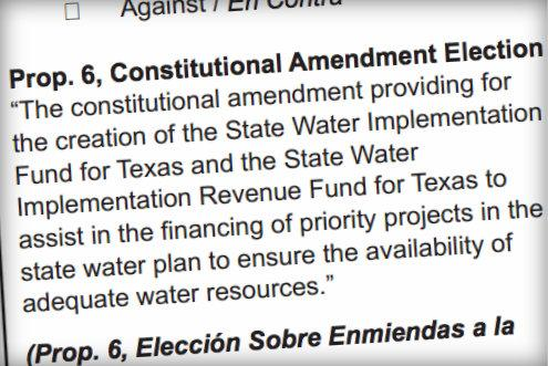 Proposition 6 creating a bank for state water infrastructure projects, attracted the most attention among constitutional amendments.