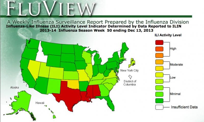 Five deaths have been attributed to the flu in Texas, one of the hardest hit states in the nation.