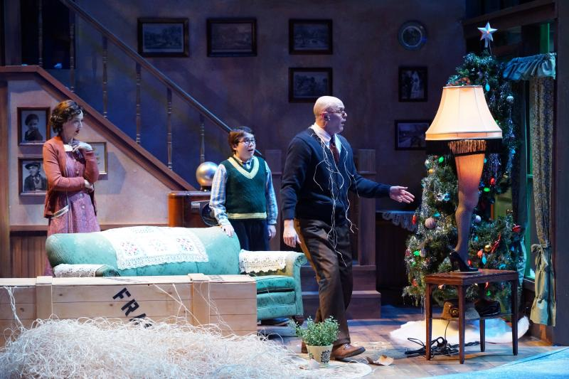 "Meredith McCall, Keaton Brandt, Chris Gibson in ""A Christmas Story"""