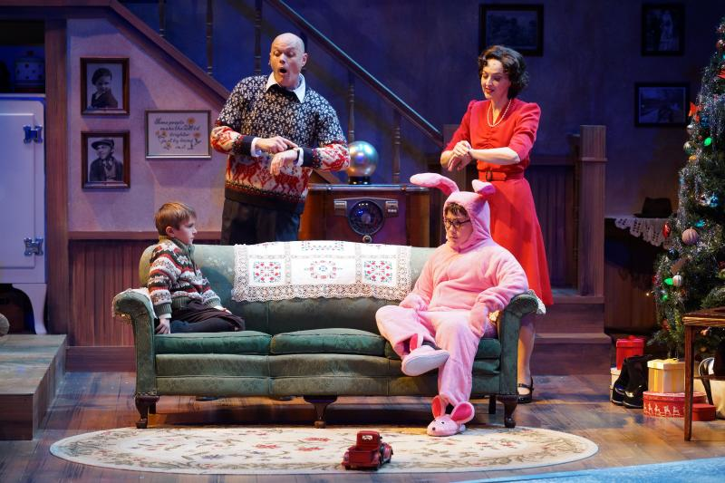 "William May, Chris Gibson, Keaton Brandt, Meredith McCall in ""A Christmas Story"""