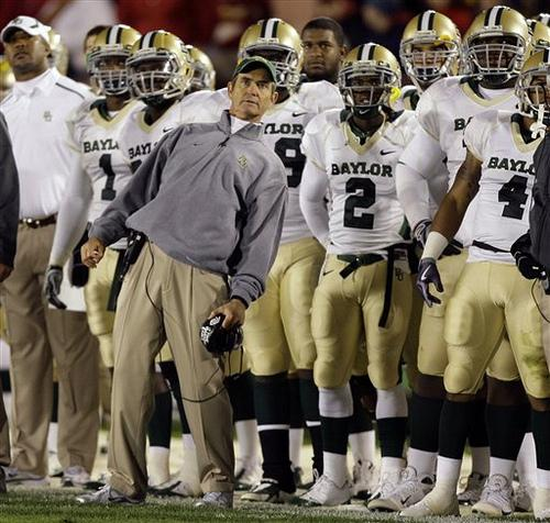 Baylor coach Art Briles is an unlikely candidate for Brown's position, as he signed a 10-year contract extension