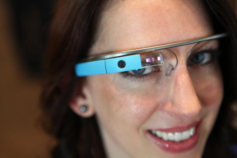 Google Glass is a sleek, lightweight hands-free computing device in a eyeglass frame.