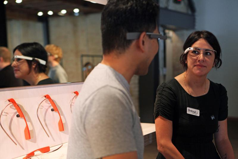 Austinites can try Google Glass this weekend at the Brazos Hall.