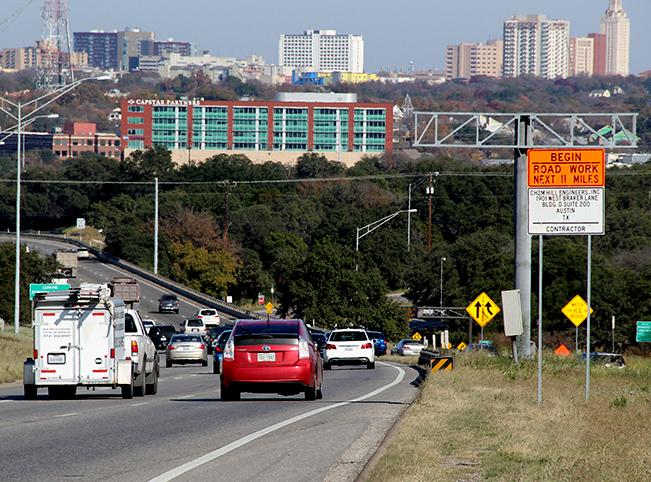Construction crews will install lighting along MoPac between Parmer and Cesar Chavez