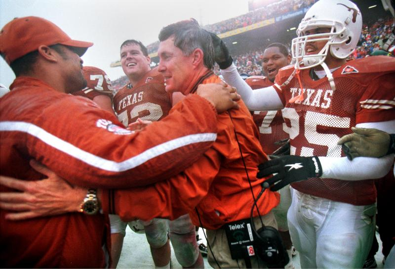 Brown after the Longhorns' 1999 Cotton Bowl victory.