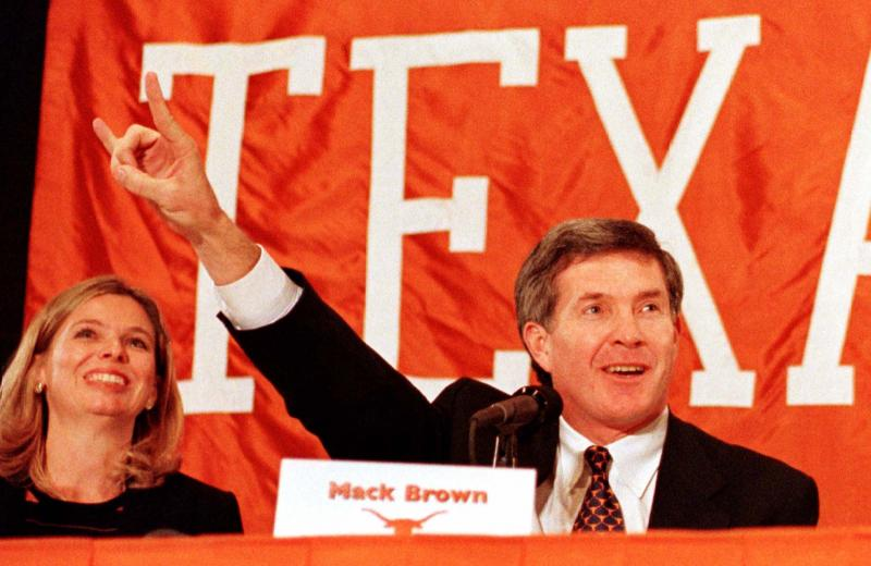 Brown's first press conference as a Longhorn, in 1998.