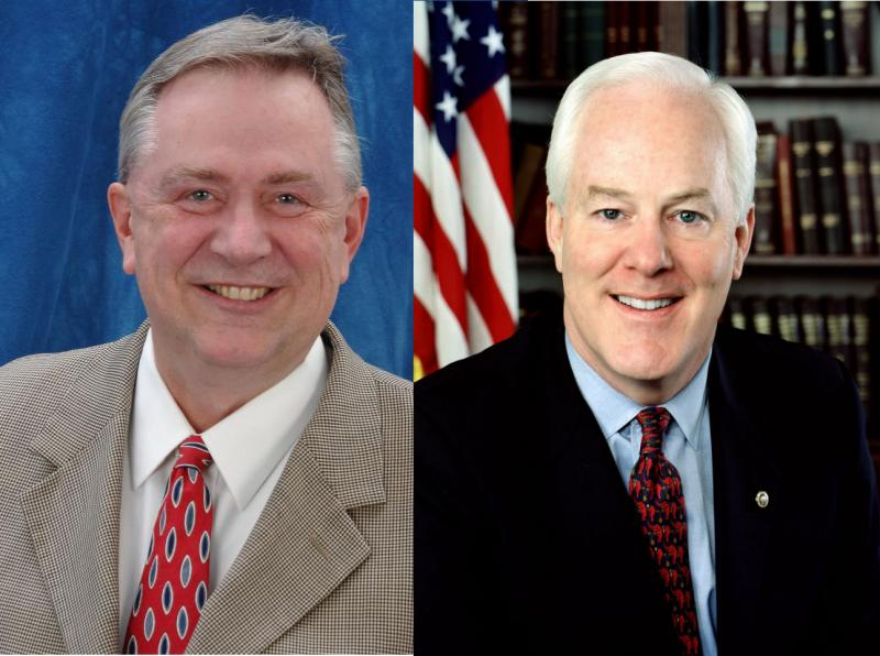 U.S. Rep. Steve Stockman (left) filed to run against U.S. Sen. John Cornyn (right)
