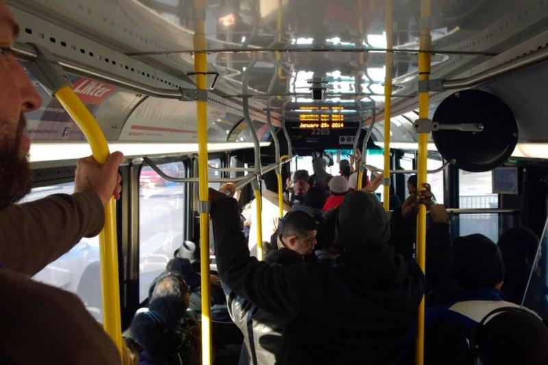 Critics say a standing-room-only 1M is a common sight since Capital Metro launched its new MetroRapid service.