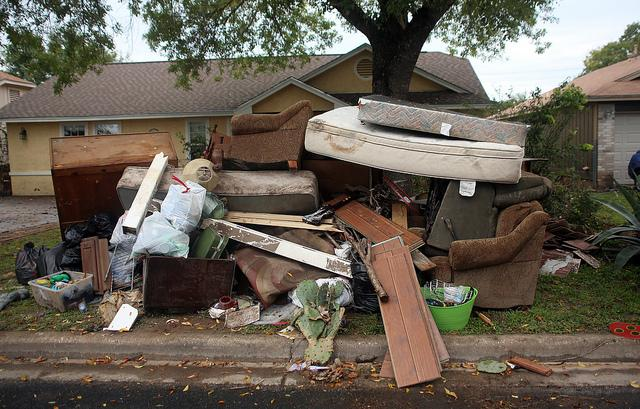 The aftermath of the Halloween flooding in the Onion Creek neighborhood.