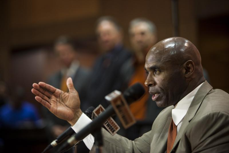 Strong pledges 'hard-nosed' football and strong recruiting in the future for Texas Football.