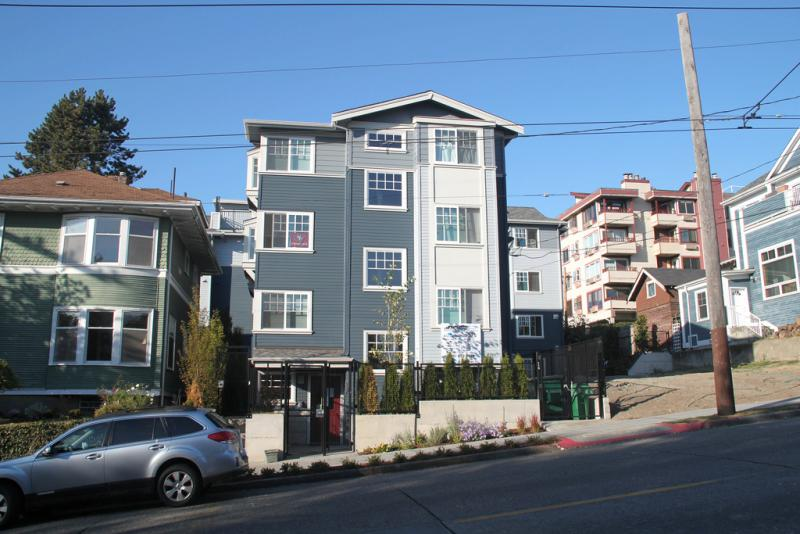 A micro-unit development in Seattle. Austin is calling for a zoning study to ensure micro-units don't face big hurdles.