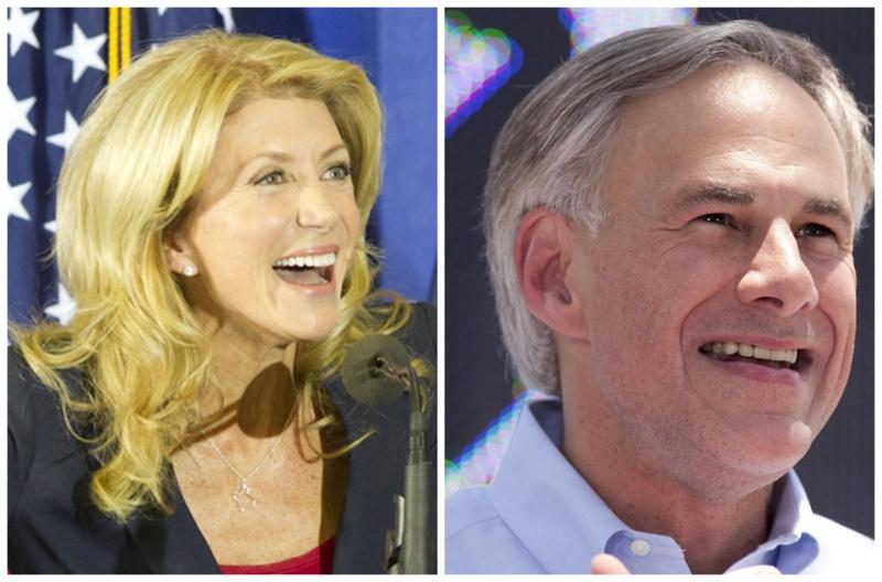 State Senator Wendy Davis, the presumed Democratic nominee for Texas Governor and Attorney General Greg Abbott, the presumed GOP nominee.