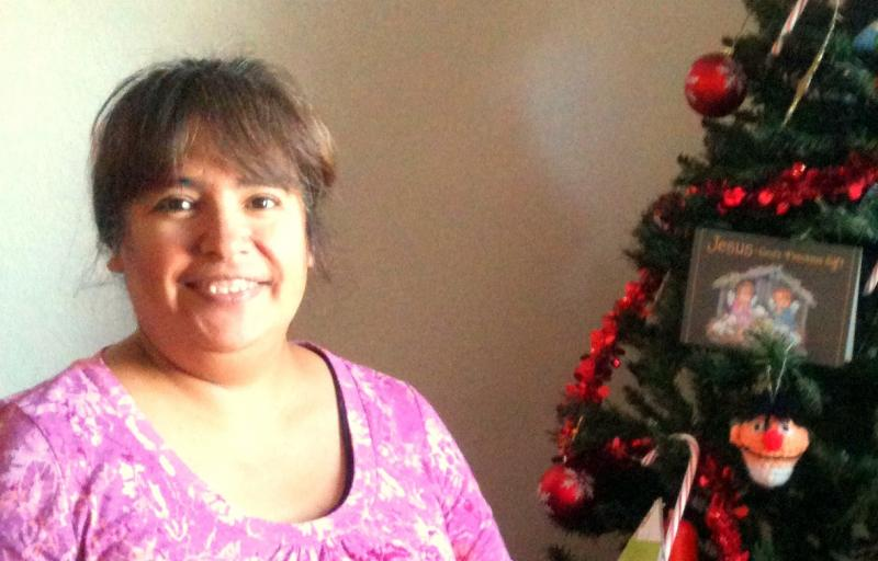 Soledad Serrato was surprised this Christmas when strangers brought them a Christmas tree and presents for their children.