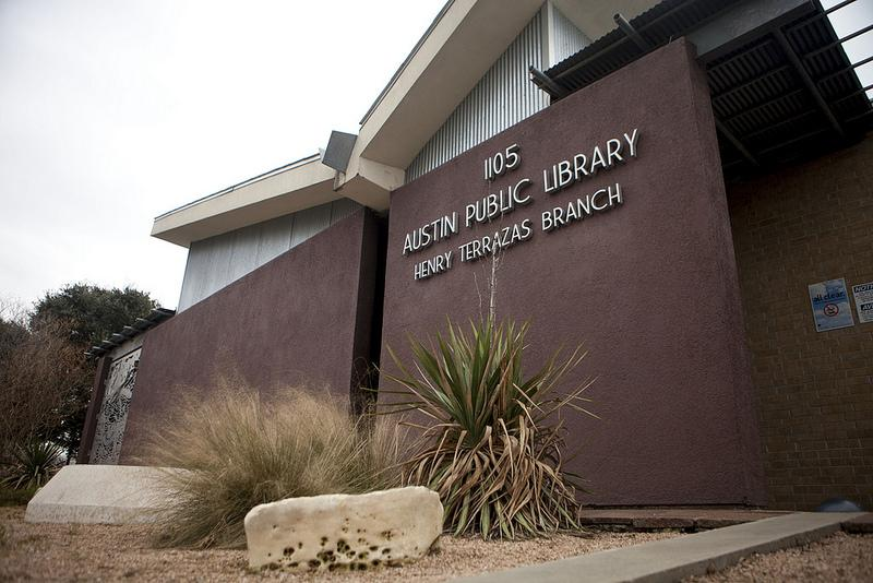 The Terrazas Branch of the Austin Public Library - part of the Tejano Healthy Walking Trail in East Austin.
