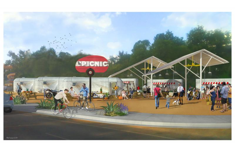 An artist's rendering of the Picnic, coming in March to Barton Springs Rd.