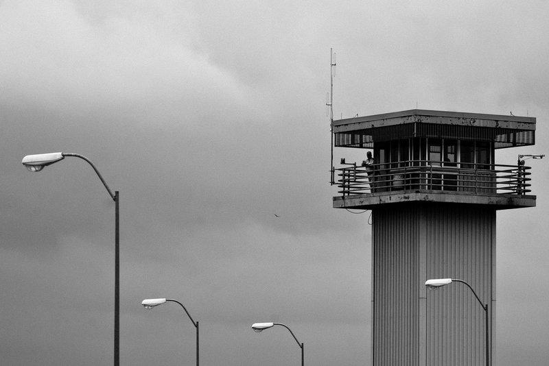 The watchtower at Huntsville Prison. Texas lead the nation in the number of exonerees last year.