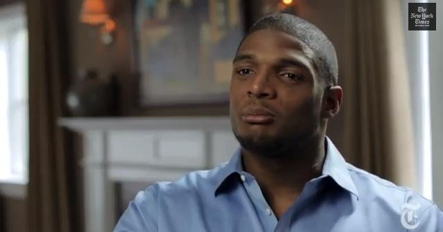 A screenshot from Michael Sam's interview with The New York Times. If drafted this May, Sam will become the NFL history.