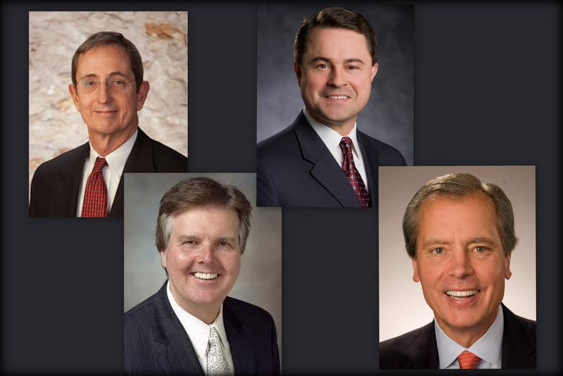 From left to right: Lt. Governor GOP primary candidates Jerry Patterson, Dan Patrick, Todd Staples and David Dewhurst.