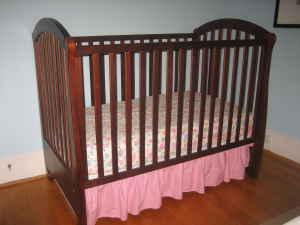 AAP recomends that infants sleep in a crib without hazards such as pillows or blankets