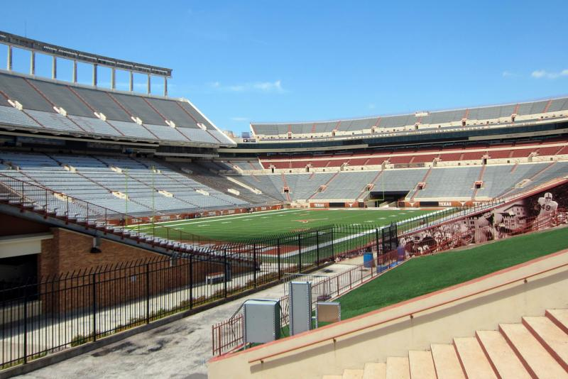 Darrell K. Royal – Texas Memorial Stadium has hosted a record 101,851 people – but could conventioneers brave the heat?