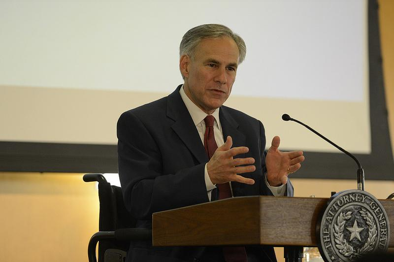 Texas Attorney General Greg Abbott at The Texas Tribune Festival on Sept. 22, 2012. Abbott leads presumptive rival Wendy Davis in a new Tribune poll.