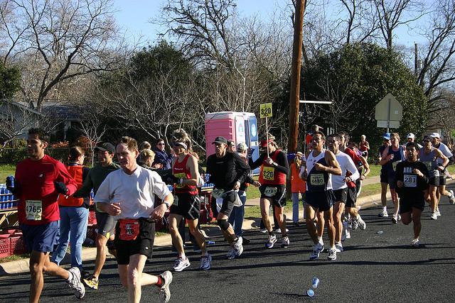 The Austin Marathon will close streets throughout Austin starting tomorrow afternoon