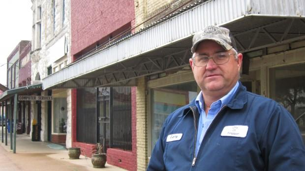 "Larry Burns is the Emergency Coordinator for the town of Timpson, in East Texas. ""If the quakes get much over a 5.0 [on the Richter scale], then we suspect we'll have some damage. It could be anything from broken lines, broken mains to a water tower on th"
