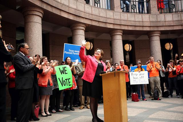 State Sen. Leticia Van de Putte, D-San Antonio, at an abortion-rights event at the Texas State Capitol on Feb. 20, 2014.