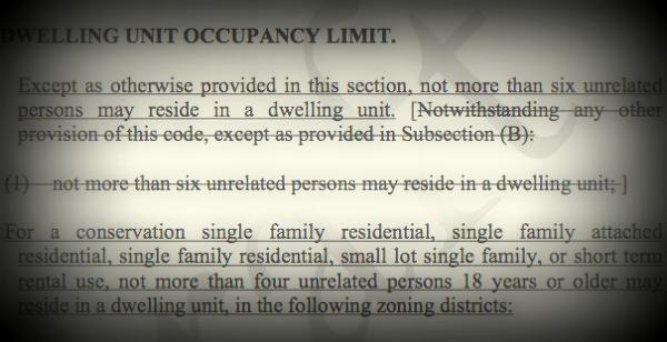 "The Austin City Council will discuss occupancy limits for so-called ""stealth dorms"" tomorrow. Opponents say laws limiting housing occupancy could affect affordable housing in Austin."