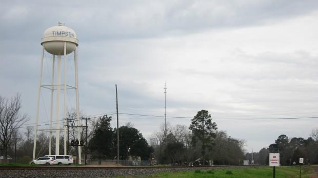 "This water tower in Timpson wasn't build to withstand earthquakes. ""After 4.0 [on the Richter scale], we get pretty nervous,"" says Timpson's Mayor Debra Smith. ""We have buildings up in town that over a hundred years old."""