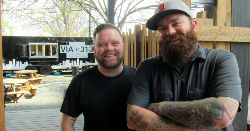 Brothers Brandon and Zane Hunt run Detroit-style pizza place Via 313.