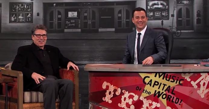 Jimmy Kimmel is broadcasting his late night show from Austin the week of South by Southwest.