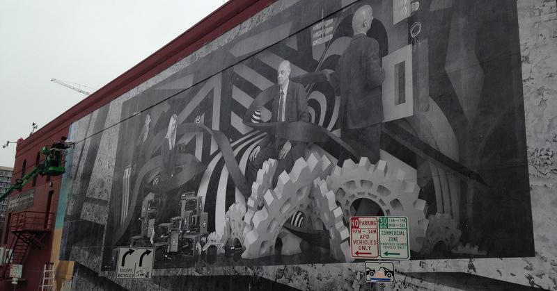 Two artists have created a mural in downtown Austin that becomes interactive when you hold up your smartphone to the mural.